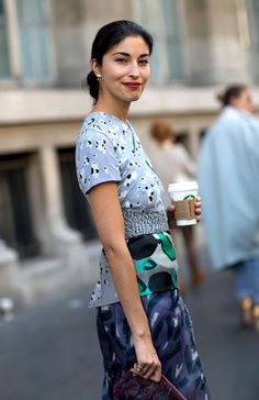 Street Style Paris Fashion Week Spring 2014 Caroline Issa