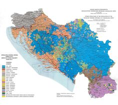Ethnic map of Yugoslavia, 1981