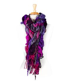 Take a look at this Purple Bubble Scarf by Tickled Pink on #zulily today!