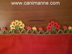 Crochet Flower Tutorial, Crochet Flower Patterns, Crochet Flowers, Diy And Crafts, Arts And Crafts, Creative Embroidery, Border Pattern, Embroidered Clothes, Needlework