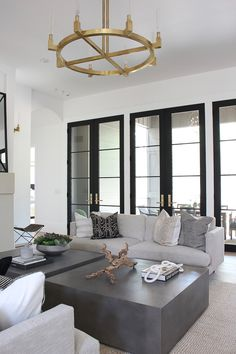 Living Room Progress, Styled for Summer – The House of Silver Lining - Creative Project ideas Living Room Modern, Home Living Room, Living Room Designs, Living Room Decor, Living Spaces, Living Room Mirrors, Design Exterior, Home Interior Design, Fashion Room