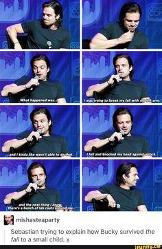 Sebastian explaining the fall