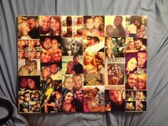 DIY mod podge canvas collage! I bought the canvas at Walmart (it came in a 2 pack about $16 for both, but there's all different sizes) I went over to the photo center & printed the pictures I wanted to use off of a jump drive where I had saved the pictures to it from Facebook or if I had them on my phone I emailed them to myself then saved them. I arranged them on the canvas how I wanted them & glued them in place, and then put about 5 coats of mod podge on top letting it dry between coats…