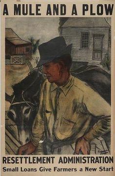 art image-american farmer, mule and plow