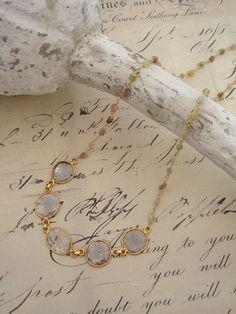 [Slice Cut Diamond Collection : 003] Necklace-K18YG/Diamond