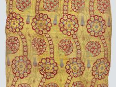 Fragment of yellow-ground kemhal, Istanbul, Second half 16th century. TM 1.47, Acquired by George Hewitt Myers in 1947. __ Textile Museum (Washington DC, USA)