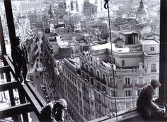 Construcción del edificio Telefónica - 1928 - Gran Vía de Madrid