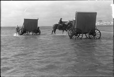 Bathing machines, c.1900