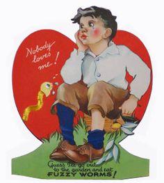 Vintage Valentine: Eating Worms!