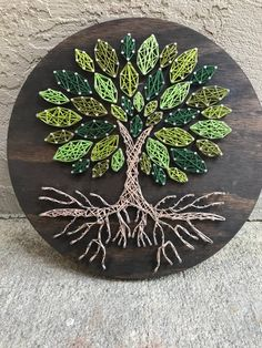 design ideas for handmade Bliss Tree Wall Art String Art Templates, String Art Tutorials, String Art Patterns, String Wall Art, Nail String Art, Tree Wall Art, Diy Wall Art, Diy Wall Decor, Art Corde
