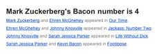 """17 People With Surprising """"Bacon Numbers"""""""