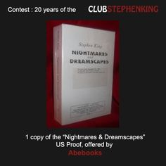 Reminder : a proof copy of NIGHTMARES & DREAMSCAPES, given by @abebooks is available in the #StephenKingContest