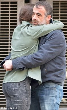 Relief: Kevin his seen hugging his daughter, Sophie (Brooke Vincent), after initially igno...