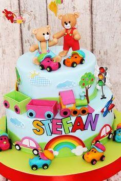 1st Birthday Party Supplies, 1st Birthday Parties, Birthday Cake, Cake Name, Edible Art, Cakes And More, Baby Kids, Birthdays, Desserts