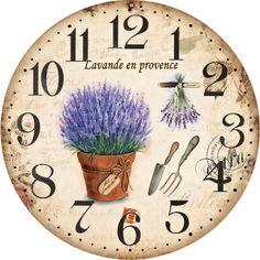 Nástěnné hodiny-lavande en provence - zvětšit obrázek
