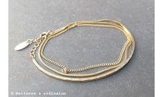 Stalactite Bracelet Trois tours vermeil #stalactite #bracelet #jonc #chaine #chain #bangle #vermeil #plaqueor #goldplated #argent #silver #goldplatedsilver #doré #gold #ss15 #fashion #bijoux #jewel #jewellery