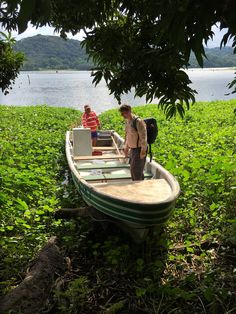 Boat-trip at the end of Camino de Cruces from Maden up front Muelle Hotel Gamboa in Soberania National Park, Panama