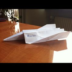 Hunter #paper #plane #ideas #creatvity