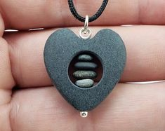 Hand carved rock necklaces by RockYouWear on Etsy Rock Necklace, Rock Jewelry, Stone Jewelry, Jewellery, Stone Crafts, Rock Crafts, Homemade Jewelry, Stone Carving, Pebble Art