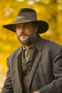 """This undated image released by History shows Bill Paxton portraying Randall McCoy in a scene from the History network's miniseries """"Hatfields & McCoys."""" (History Channel)"""