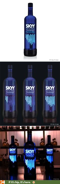 SKYY Vodka's uniquely designed limited-edition bottle, SKYY ELECTRIFYY, is a first-of-its-kind design which features a graphic LED label that moves to the beat of the music.
