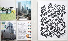 Lots of great Project Life ideas in this spread from Nicole Reaves for kerribradford.com.