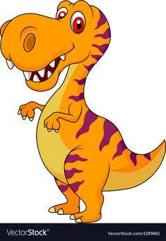 Cute dinosaur cartoon vector image on VectorStock Dinosaur Images, Dinosaur Pictures, Cartoon Dinosaur, Cute Dinosaur, Hand Crafts For Kids, Dinosaur Wall Decals, Dinosaur Birthday Party, Baby Art, Cartoon Pics
