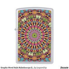 Graphic Novel Style Kaleidoscope Zippo Lighter, by Joy McKenzie