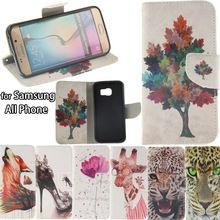 Leather Wallet Flip Cover Case sFor Samsung Galaxy Grand Prime G530/G531/S6 Edge S3 S4 S5 Mini A3 A5 Note 4 5 Coque for Galaxy
