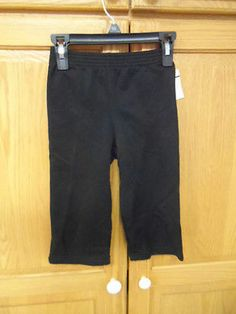 BOYS SIZE 24 MONTHS PANTS. BLACK.HEALTHTEX. NEW WITH TAGS.