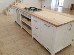 Holly Wood Kitchens Yuppiechef cooking school island ashwood and white Price Hollywood Furniture, Modern Country Kitchens, Modern Furniture, New Homes, Cooking School, House, Island, Home Decor, Atelier