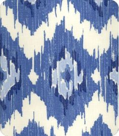 L Textiles - Blue Ikat - Style #20991 - Color 99 Blueberry - Item ID 1096292