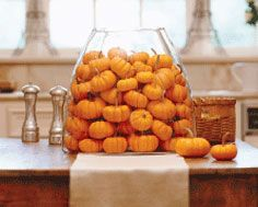 Mini Pumpkin Centerpiece #Fall #Decorating