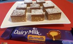 Wendys Kitchen Table shares a very easy non bake recipe for Cadbury Caramello slice. It is a simple yummy treat. This tutorial gives you the simple easy step. Yummy Treats, Delicious Desserts, Sweet Treats, Yummy Food, Mini Desserts, Healthy Treats, Healthy Baking, Yummy Yummy, Delish