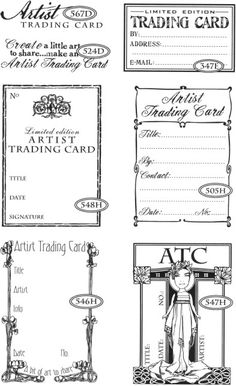 Artist Trading Cards - Fancy   Stamps by CatsLife Press