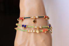 Calce della perla verde afgano amicizia di monroejewelry su Etsy