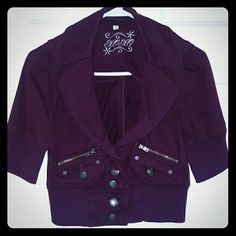Crop jacket! Never worn!  Super cute crop jacket...can mix with any outfit. Jackets & Coats Blazers