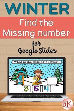 Fill the missing number activity for Google Slides   winter math activities   numbers 0-6