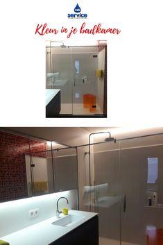 Vervanging van een douche met een waterlek. Gebruik van acrylplaat ...