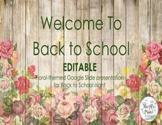 Are you looking for an editable Back to School presentation for Back to School n. Back To School Night, New School Year, Going Back To School, School Fun, Middle School, School Stuff, Classroom Rules, Preschool Classroom, Classroom Themes