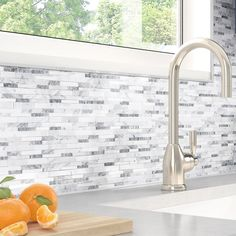 Inoxia SpeedTiles Gray Agate White and Gray in. x 5 mm Stone Self-Adhesive Wall Mosaic Inoxia SpeedTiles Gray Agate White and Gray in. x 5 mm Stone Self-Adhesive Wall Mosaic - The Home Depot Gray Kitchen Backsplash, Kitchen Wall Colors, Mosaic Backsplash, Kitchen Backsplash Mosaic, Gray Kitchen Walls, Self Adhesive Backsplash, Backsplash Ideas, Kitchen Paint, Kitchen Countertops