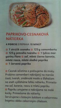 Paprikovo-cesnakova natierka Muffin, Breakfast, Food, Red Peppers, Morning Coffee, Eten, Cupcakes, Muffins, Meals