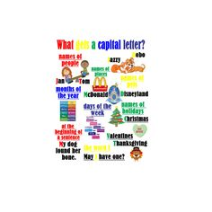 What gets a capital letter Poster by JojoBeansGoodies on Etsy
