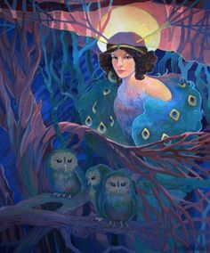 Spirit of the Forestby yanadhyana. tempera on canvas