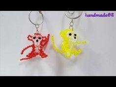 Beaded beads tutorial/ monkey (1/3) - YouTube Beaded Crafts, Beaded Ornaments, Diy Crafts, Beads Tutorial, Beaded Animals, Beaded Bags, Beading Tutorials, Bead Art, Crystal Beads