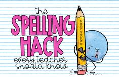 Help your students become better spellers with the spelling hack that every teacher should know! It is mind-blowing how effective as well as how simple it is and easy for students to use! Spelling Word Activities, Spelling Rules, Teaching Phonics, Homeschool Kindergarten, 2nd Grade Spelling, Learning To Write, Learning Spaces, Word Study, Word Work