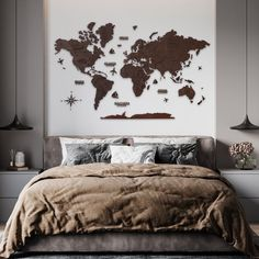 Brown World Map Wall Art by MapFromWood. 3D Wooden Map wall art wood map home decor wooden world map wall map wooden world map wall art 3d world map wood wall art. Wooden world map for living room, bedroom, hallway, kids room, home office wall decoration. Our wooden map was created to make your apartment or office really cool and beautiful. #mapdecor #livingroomdecor