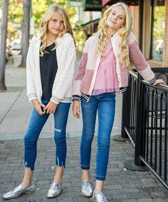 kids fashion, tween fashion, kids style, tween style, furry jackets, jeans, loafers, ten sixty sherman girls, sister, lifestyle photography, ootd, tween bloggers, tween blog, sister photography #KidsFashionTween