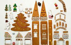 Kauniit piparitalot koristavat koteja joulun aikaan. Nappaa talteen piparkakkutalojen kaavat sekä koristelu- ja kokoamisohjeet!