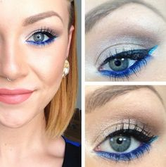 dress-up tips eyes eye liner blue fashion beauty